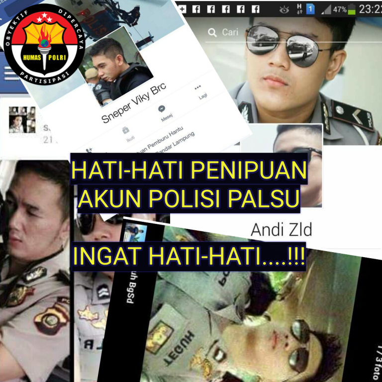Polda Himbau Netizen Waspada Modus Penipuan Akun Polisi Gadungan